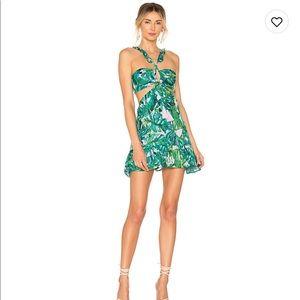 Lover's + Friends Olivia Mini Dress palm print